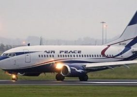 Nigeria cities peace airlines aircraft