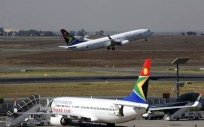 south SAA flights airways African